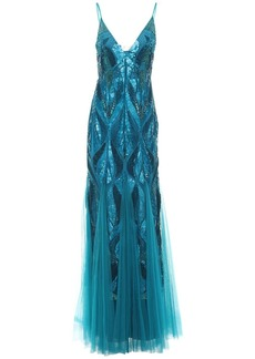 Alberta Ferretti Embellished Tulle Gown