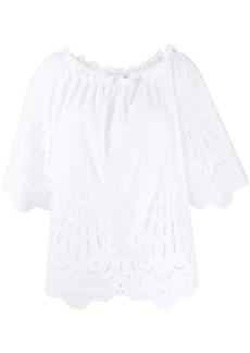 Alberta Ferretti embroidered lace blouse