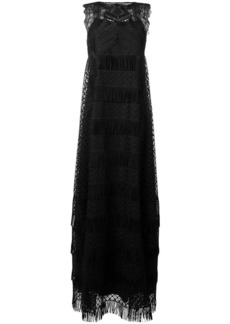 Alberta Ferretti embroidered lace maxi dress