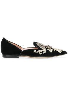 Alberta Ferretti embroidered slip-on shoes