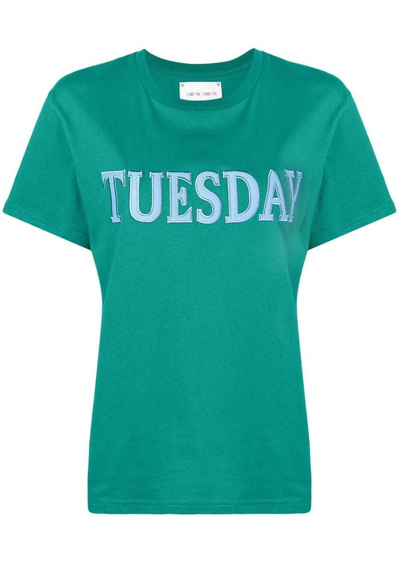 Alberta Ferretti embroidered tuesday T-shirt