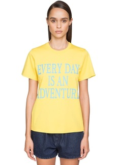Alberta Ferretti 'every Day An Adventure' Cotton T-shirt