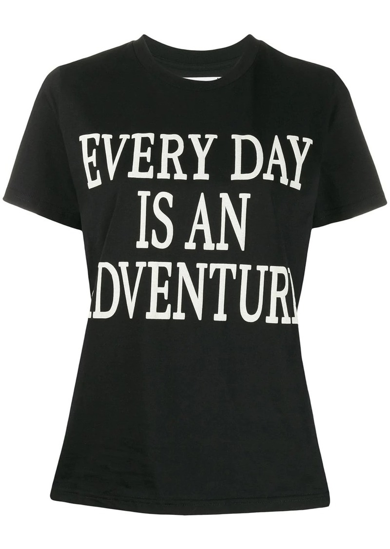Alberta Ferretti Every Day Is An Adventure print T-shirt