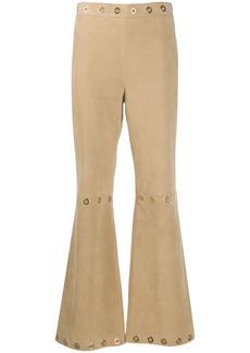 Alberta Ferretti eyelet-embellished flared trousers