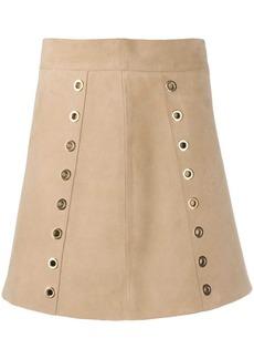 Alberta Ferretti eyelet-embellished skirt