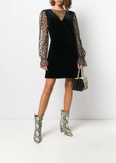Alberta Ferretti fabric mix short dress