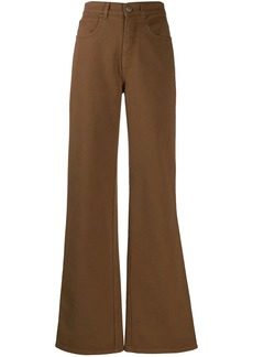 Alberta Ferretti five pocket design flared trousers
