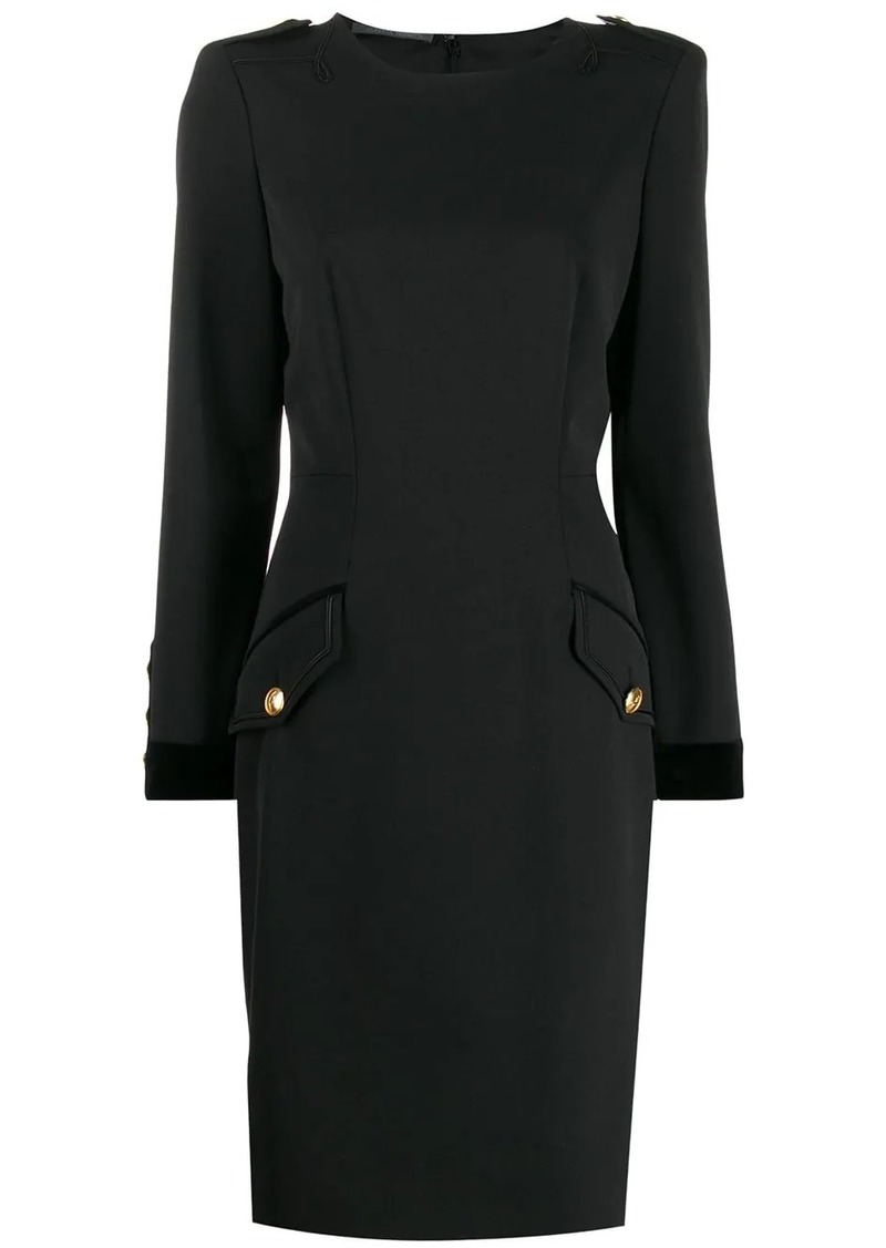 Alberta Ferretti flap pocket dress