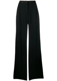 Alberta Ferretti flared pleated trousers
