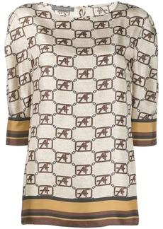 Alberta Ferretti flared style blouse