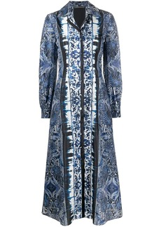 Alberta Ferretti floral-print buttoned maxi dress