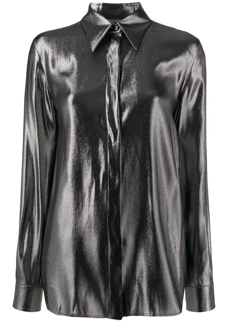 Alberta Ferretti foil shirt