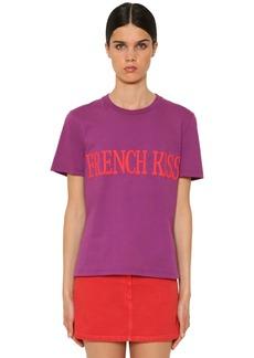 Alberta Ferretti French Kiss Cotton Jersey T-shirt