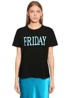 Alberta Ferretti Friday Cotton Jersey T-shirt