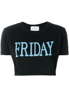 Alberta Ferretti Friday print cropped T-shirt