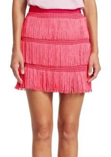 Alberta Ferretti Fringe Skirt