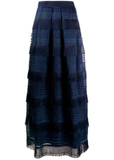 Alberta Ferretti fringed maxi skirt