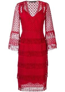 Alberta Ferretti fringed midi dress
