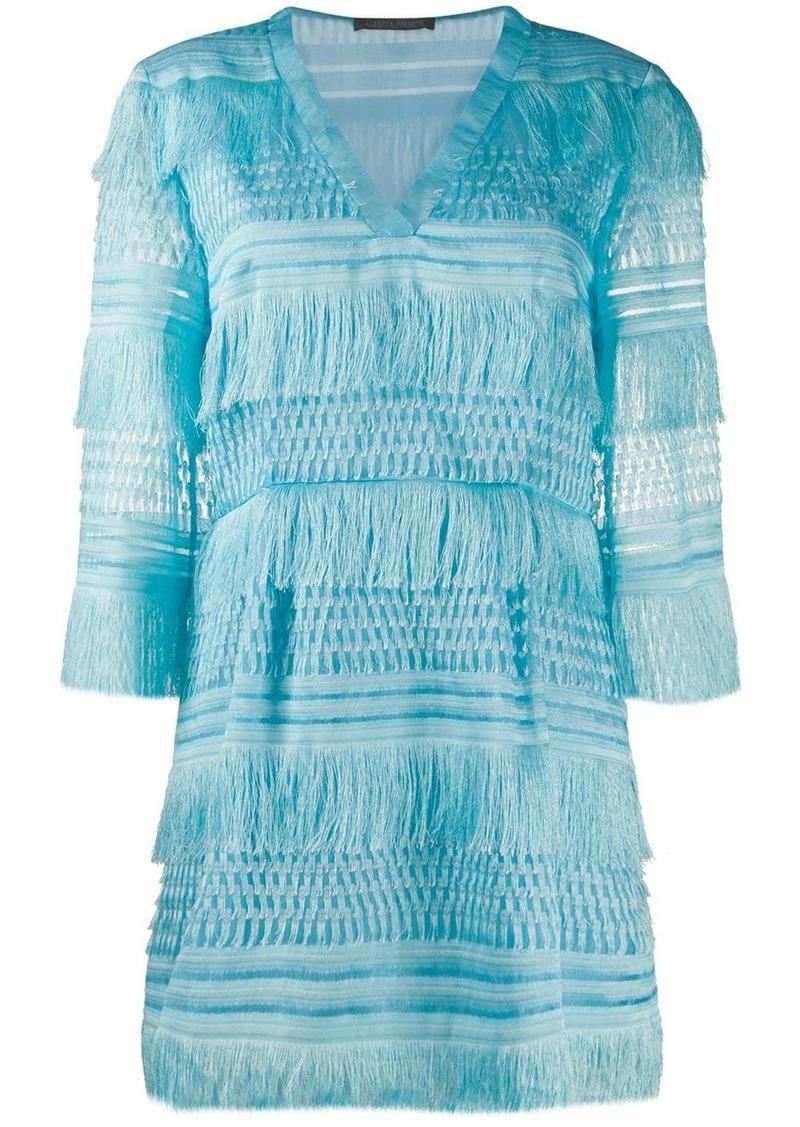 Alberta Ferretti fringed short dress