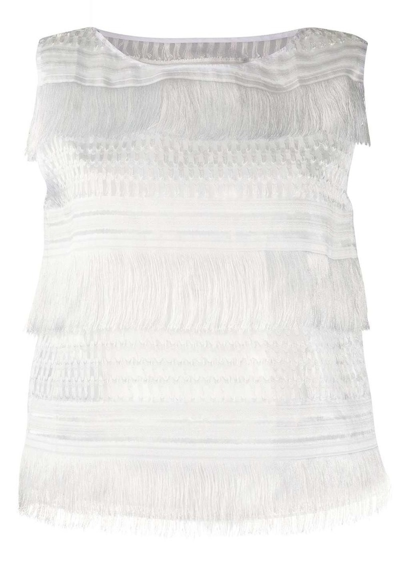 Alberta Ferretti fringed sleeveless top