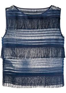 Alberta Ferretti fringed sleeveless top