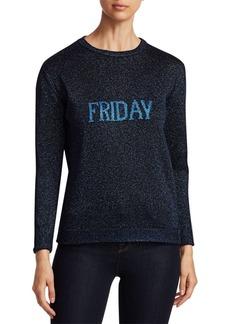 Alberta Ferretti Rainbow Week Capsule Days Of The Week Friday Lurex Sweater