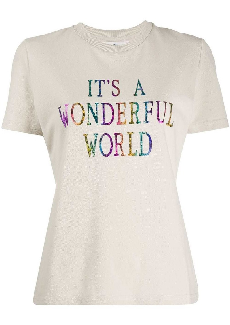 Alberta Ferretti front print t-shirt