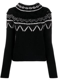 Alberta Ferretti geometric pattern jumper