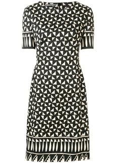 Alberta Ferretti geometric print dress