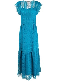 Alberta Ferretti guipure lace maxi dress