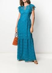 Alberta Ferretti guipure lace maxi dress