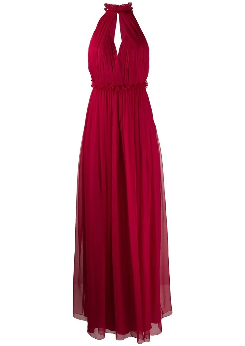Alberta Ferretti halterneck long dress