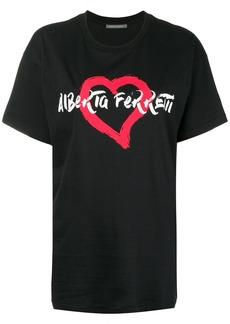 Alberta Ferretti heart logo T-shirt