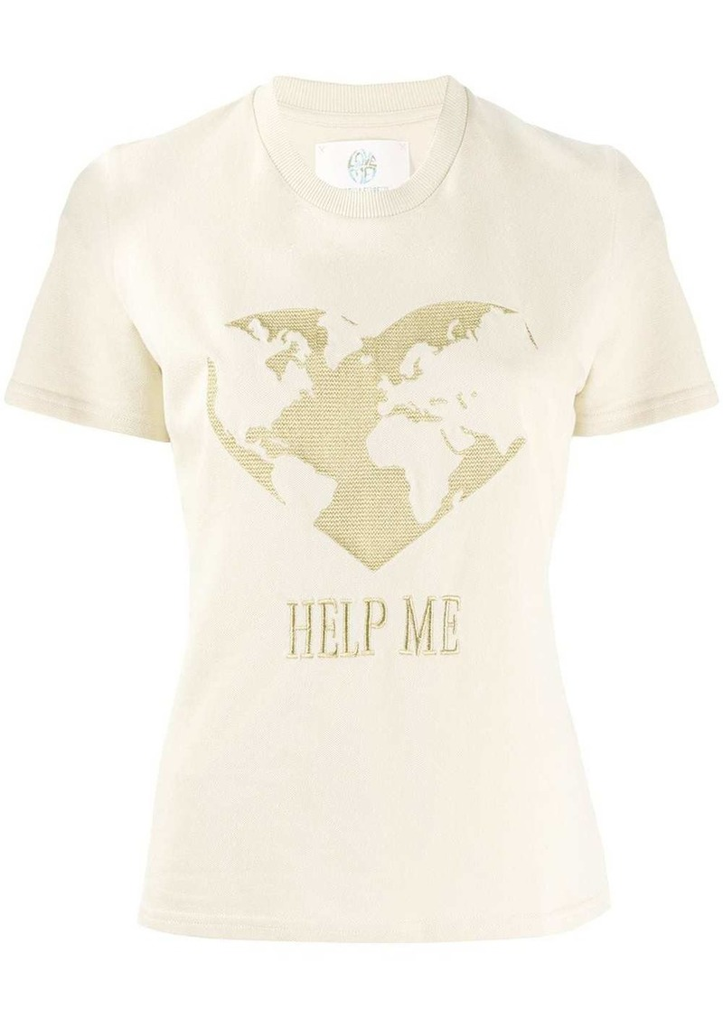 Alberta Ferretti Help Me embroidered T-shirt