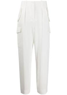 Alberta Ferretti high-rise straight leg trousers