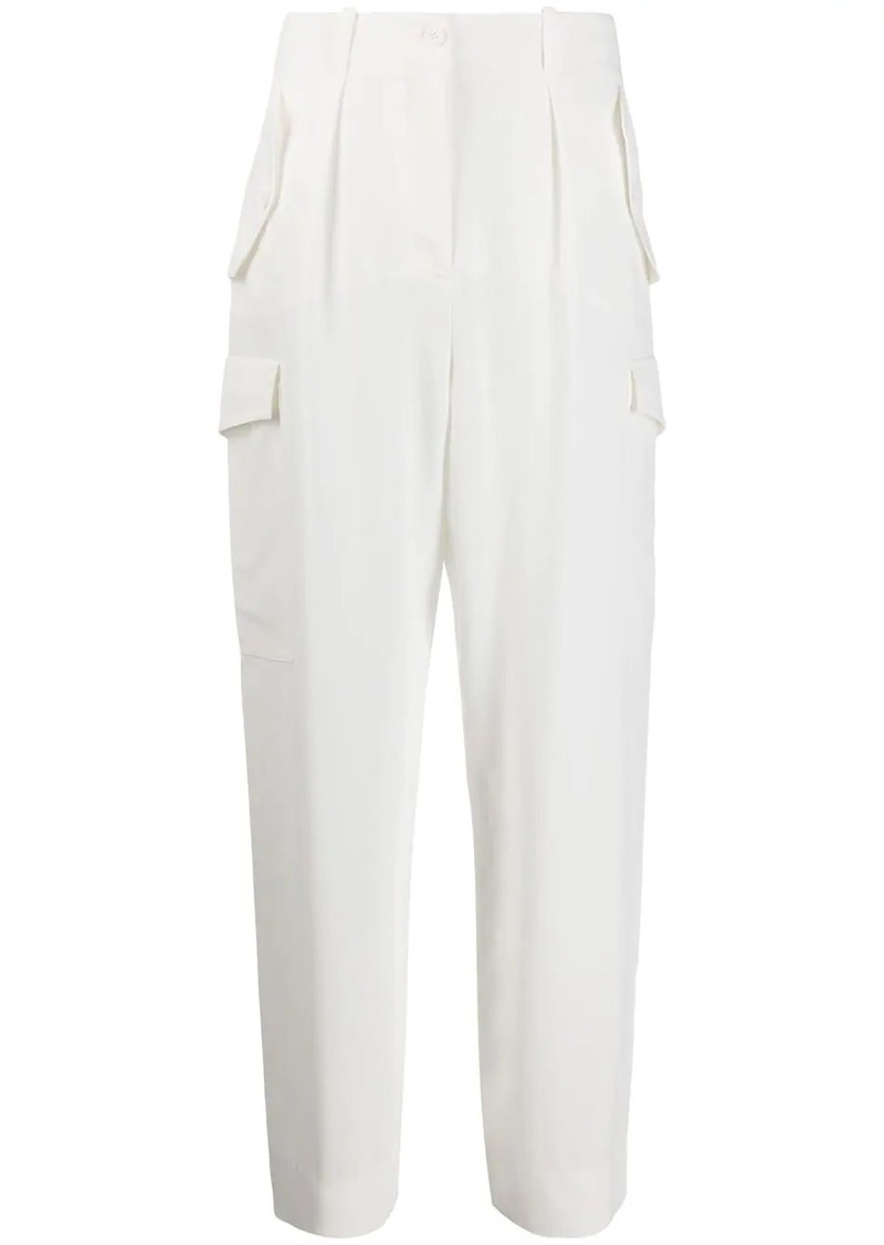 Alberta Ferretti high-rise straight leg trousers
