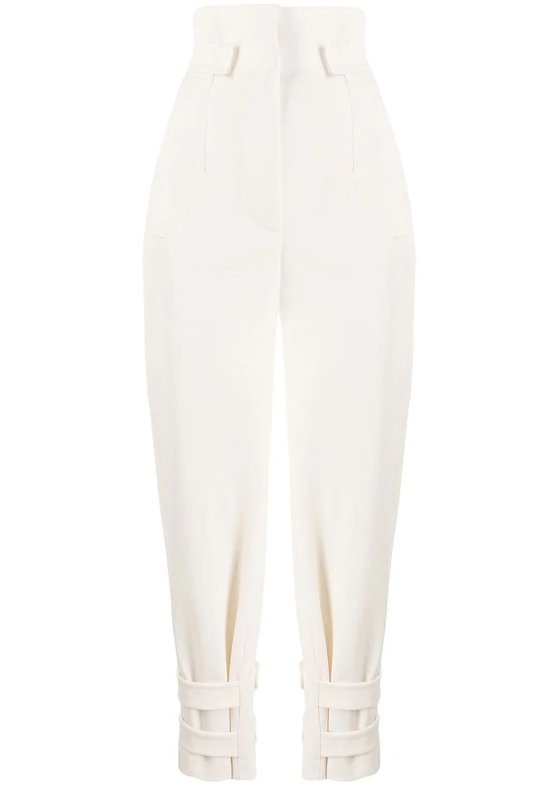 Alberta Ferretti high-waist paperbag trousers