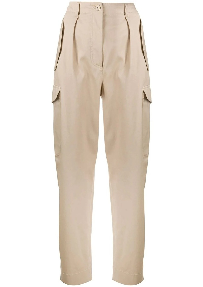 Alberta Ferretti high-waisted cargo trousers