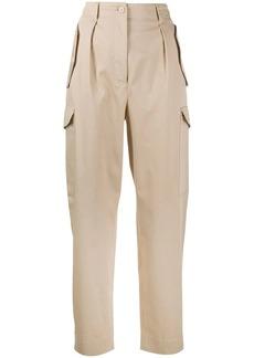 Alberta Ferretti high-waisted cargo trousers