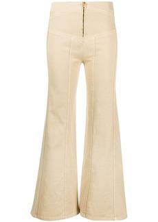 Alberta Ferretti high-waisted flared trousers
