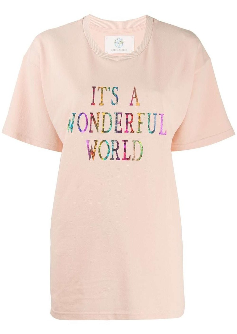 Alberta Ferretti It's A Wonderful World oversized T-shirt