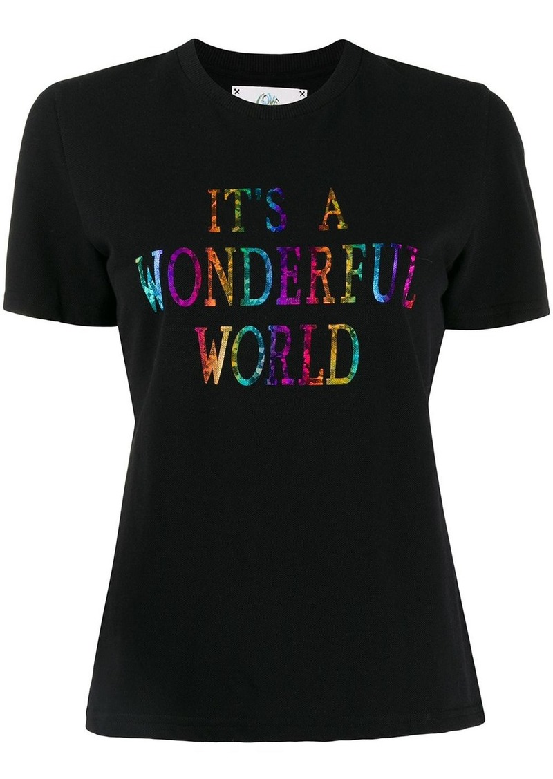 Alberta Ferretti It's A Wonderful World print T-shirt