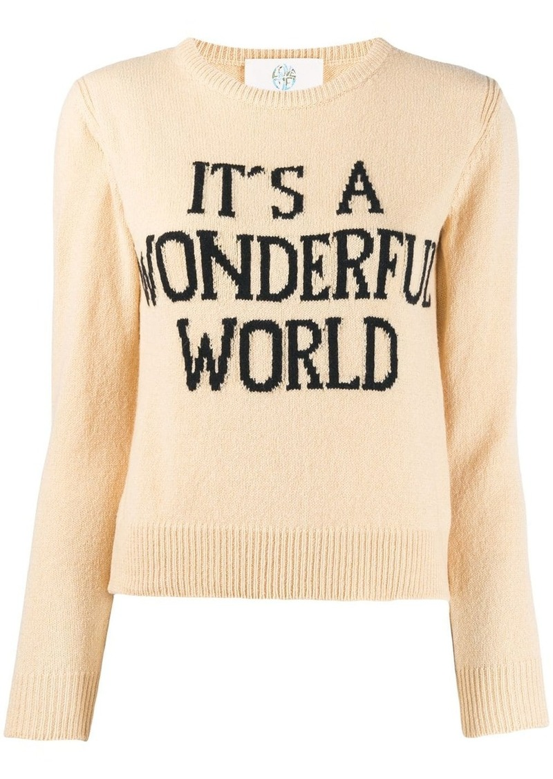Alberta Ferretti It's A Wonderful World sweater