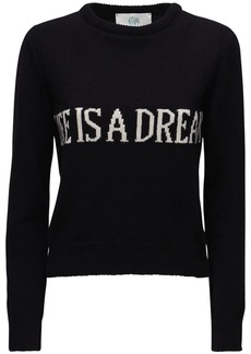 Alberta Ferretti Knit Intarsia Cashmere & Wool Sweater