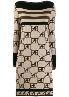 Alberta Ferretti knitted boat neck dress