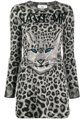 Alberta Ferretti knitted leopard print dress