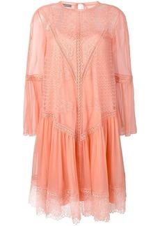 Alberta Ferretti lace panel dress