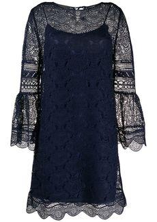 Alberta Ferretti lace scalloped hem dress