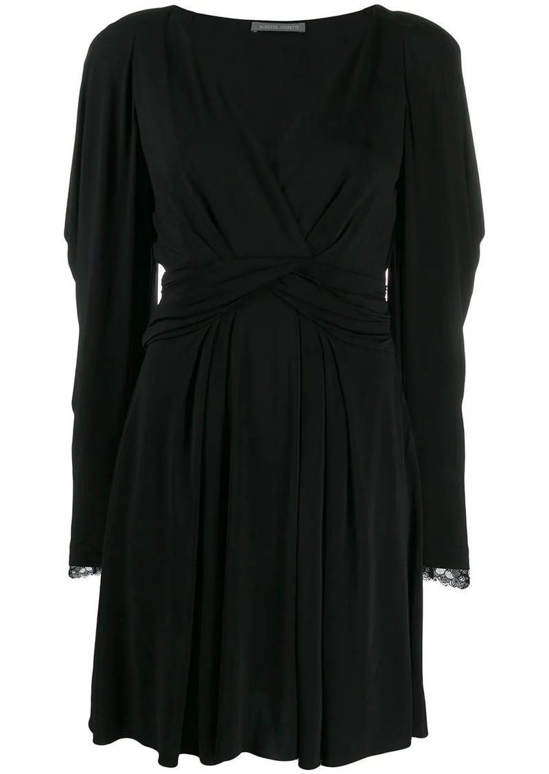Alberta Ferretti lace sleeve dress