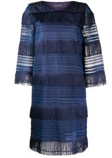 Alberta Ferretti layered fringe dress